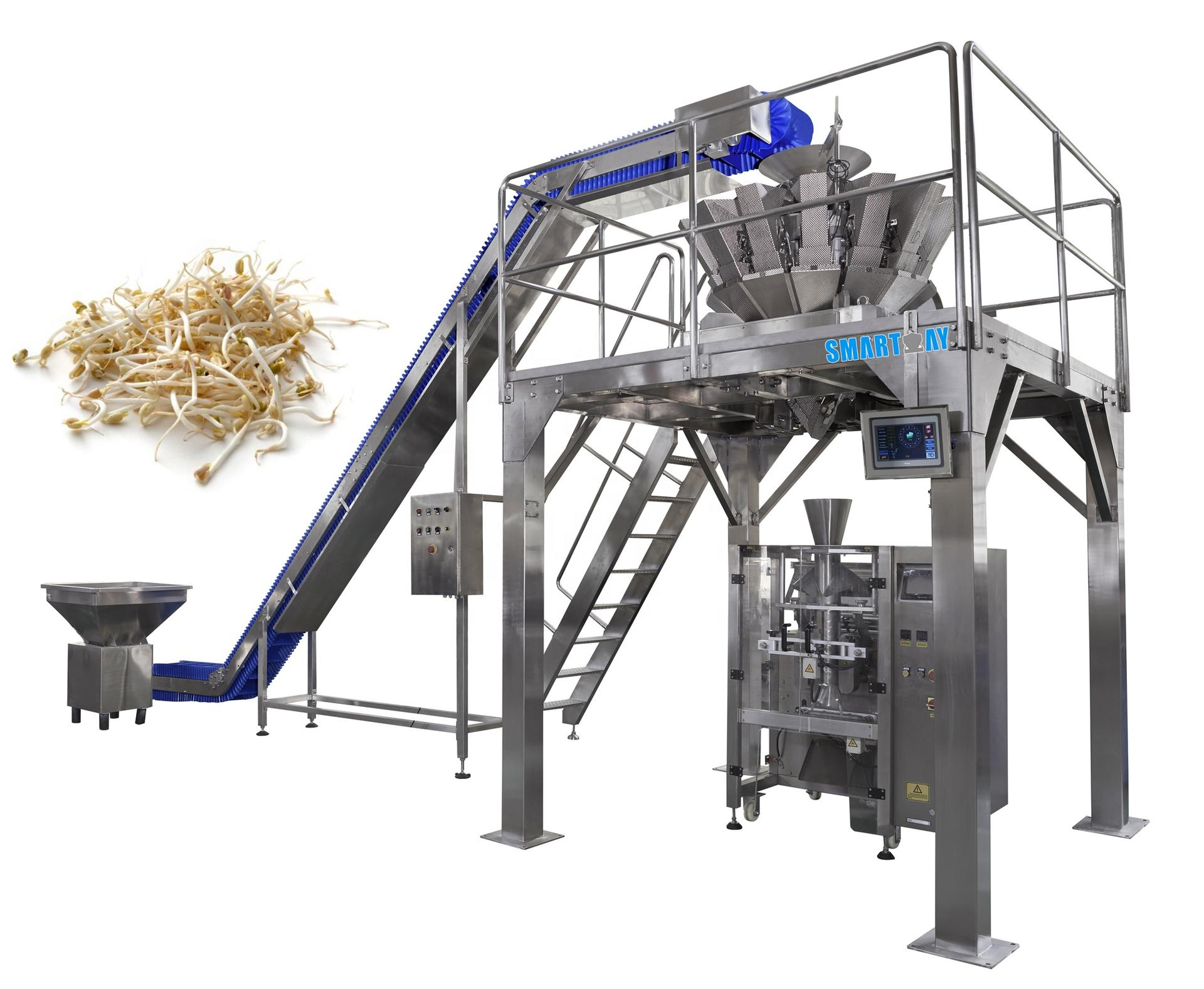 High performance grain bean sprout 10 heads granule packaging machine