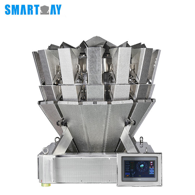 High quality automatic 14 head mechanical weighing scale machine multihead weigher