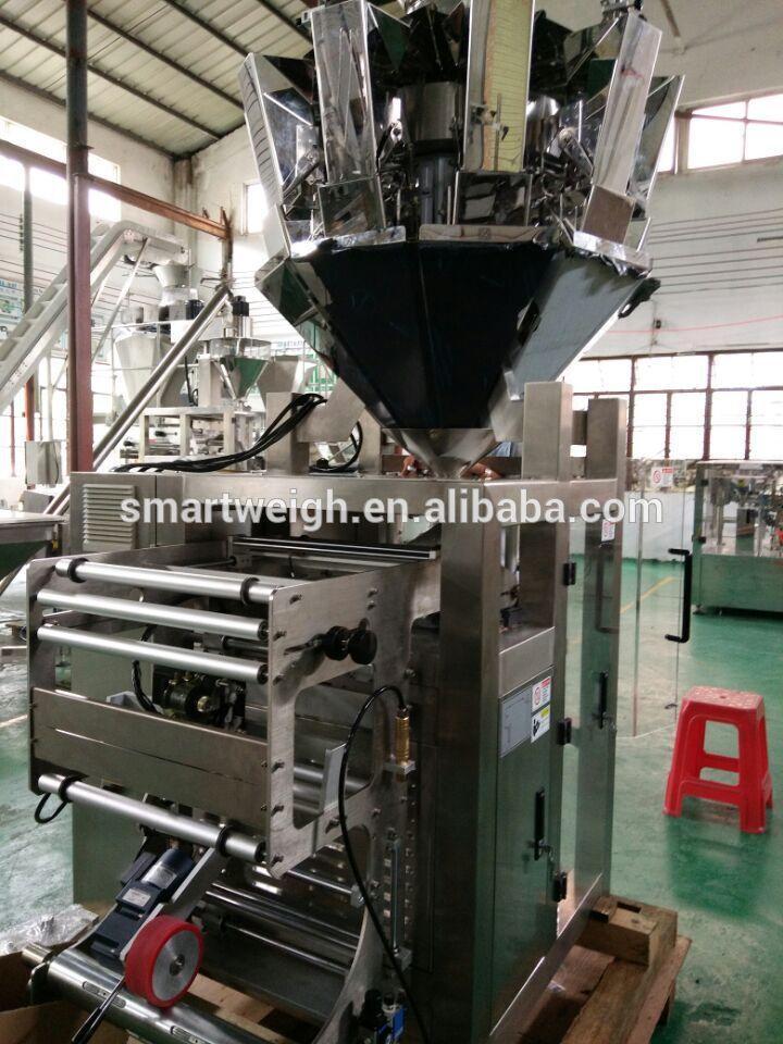 Automatic Vertical Multihead Weigher Granule Snacks Packing Machine