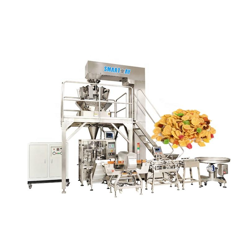 2.5L Hopper Automatic Pillow Bag Sweet Oats Corn Flakes small food packaging machine