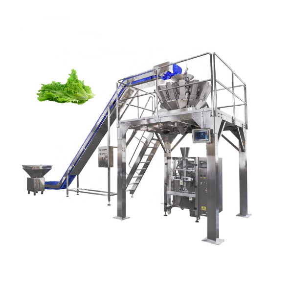 Automatic Fresh Frozen Lettuce Spinach Salad Vegetable Packing Machine