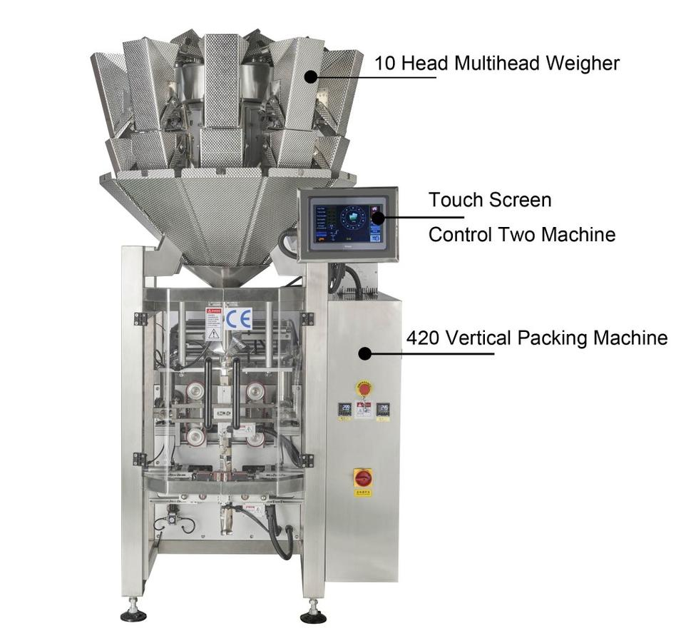 SW-M10P420 CE Automatic Pillow Bag Combine Weighing and Packing machine