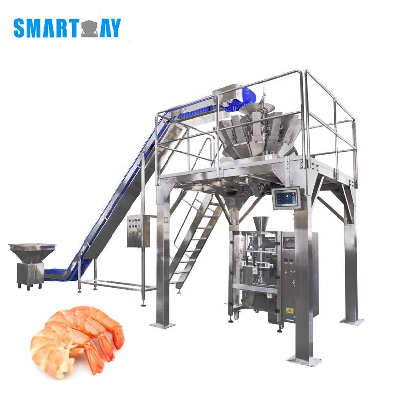 2020 China Manufacturer Customized Frozen Fresh Shrimp And Seafood Packing Machine