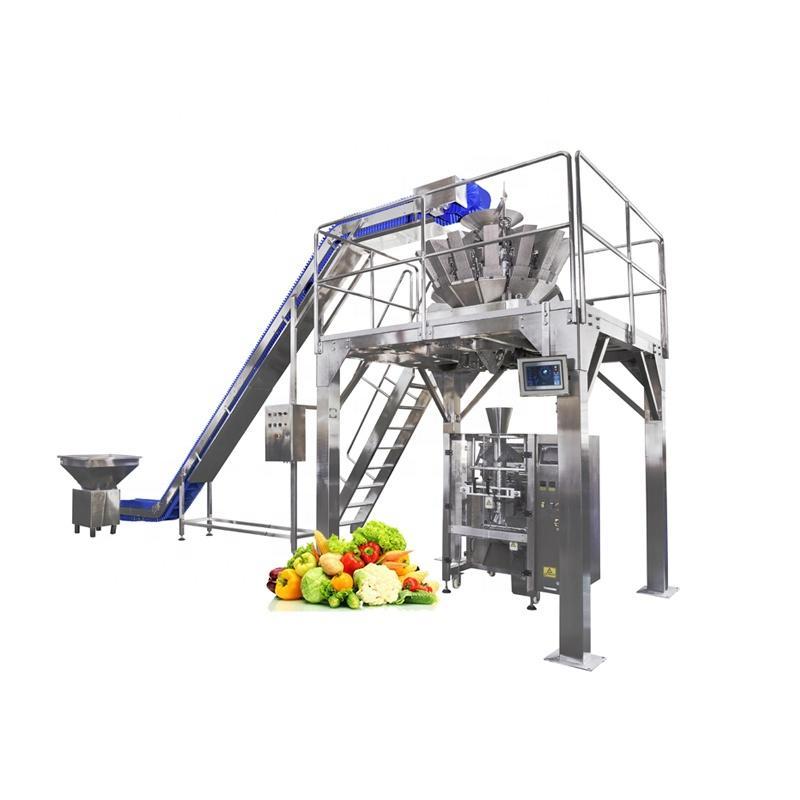 Automatic Fresh Lettuce / Whole Lettuce / Fresh Frozen Vegetable Packaging Packing Machine