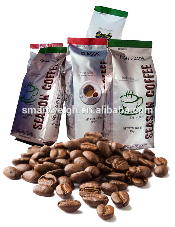 Vertical Form Fill Seal Line Automatic Coffee Beans Packing Machine