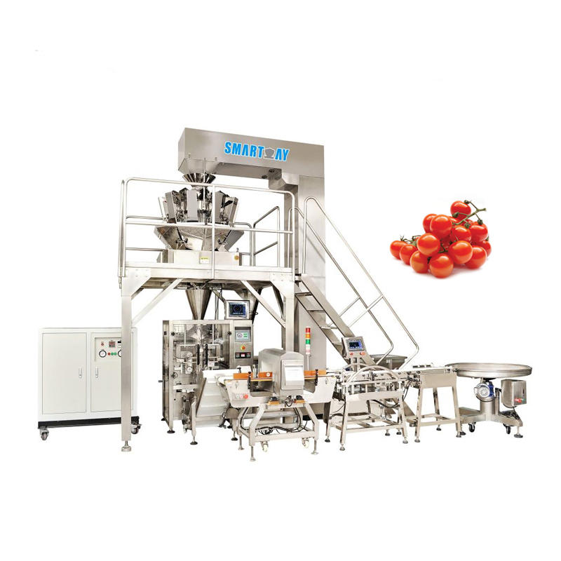 SMART WEIGH Cherry Tomato Packing Machine With Multihead weigher