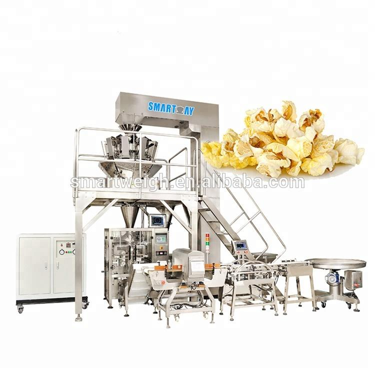 Automatic pillow bag or gusset bag microwave popcorn packing machine price