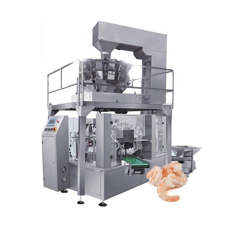 Cooked, IQF Frozen Shrimp Clam Sea food Packing Machine