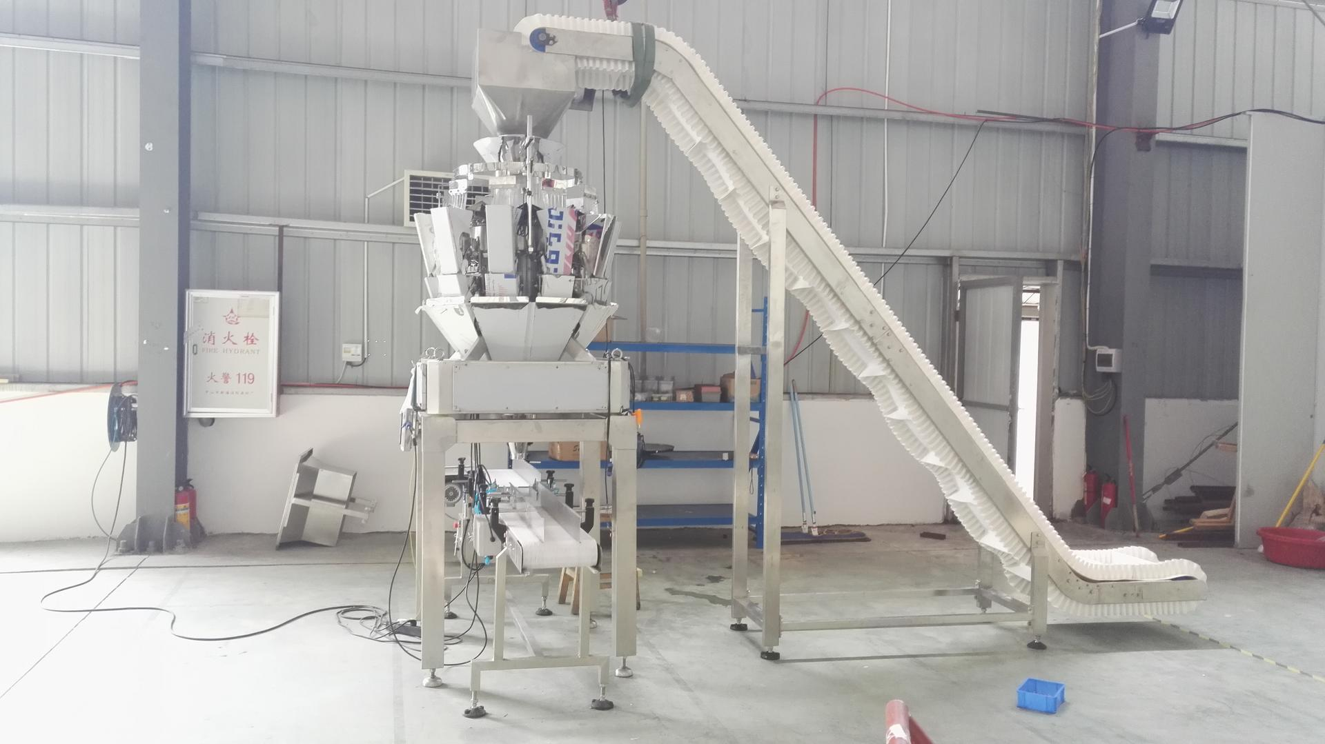 CE Automatic Tray Filling Line for Shrimp