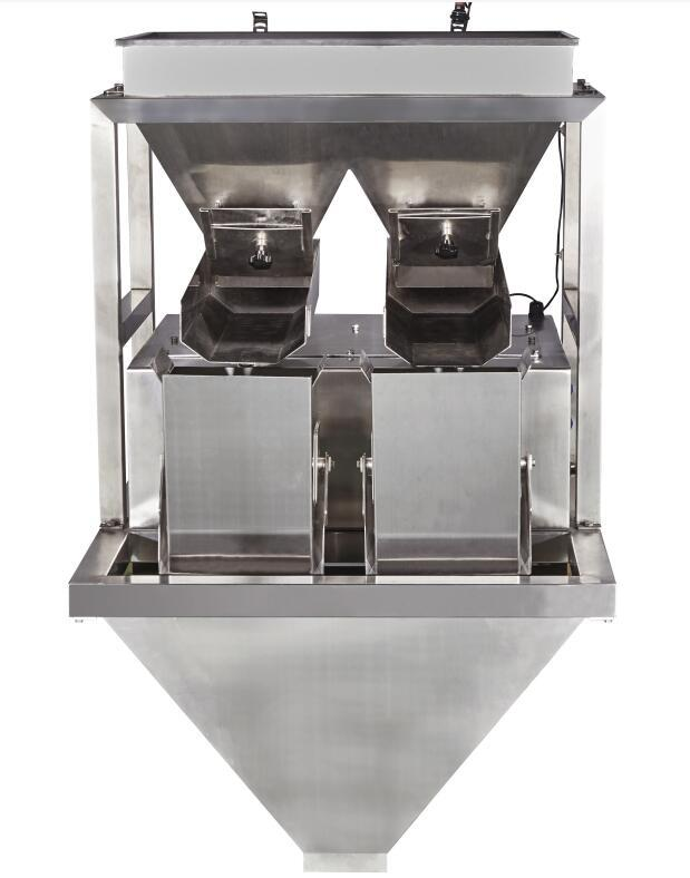 CE Two Head Linear Weigher For Granule/Bean/Grain/Rice/Nuts/Seeds