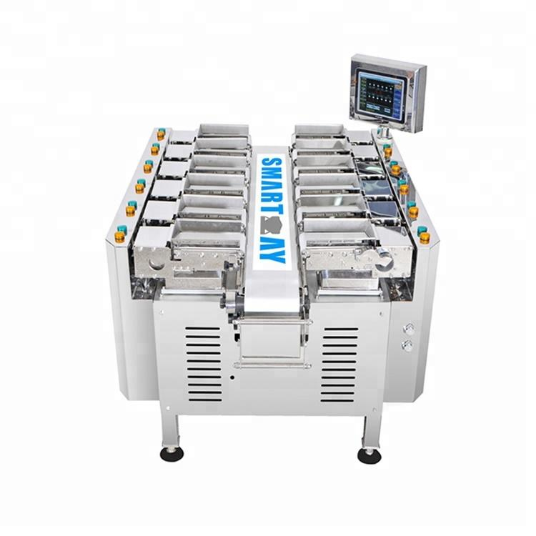 Manual feed pork chicken fish packing machine in trays