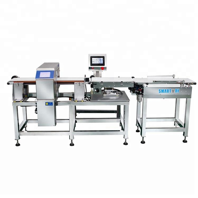 Automatic combination metaldetector with check weigher