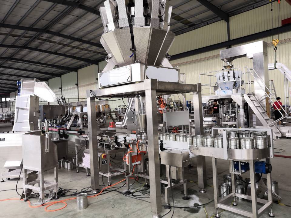 Filling packaging machine Line for Sliced Pineapple/Peach/Apple/Orange