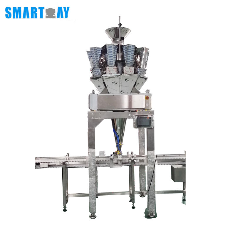 CE Automatic Bottle/CanTin/Jar Filling Line With Multihead Weigher