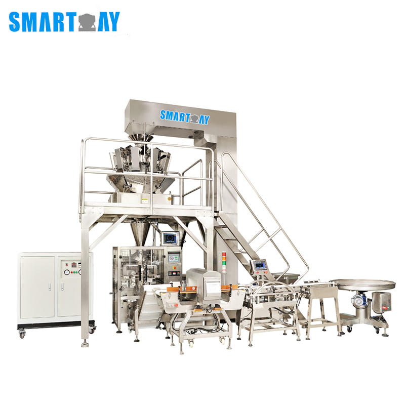 Smart Weigh Automatic Dried Fruit/Nuts Quad Bag Packing Machine Line