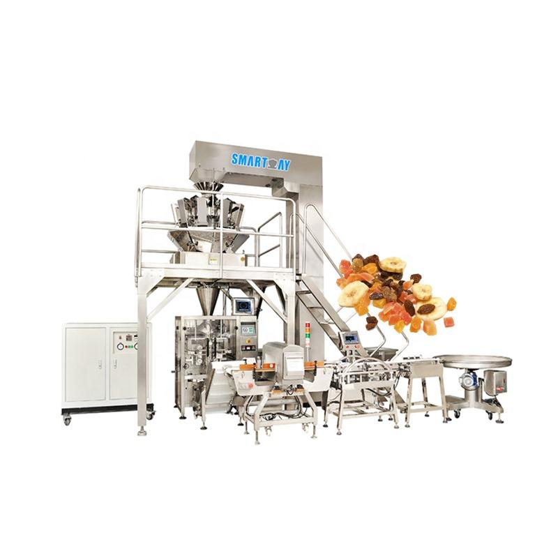 Automatic Dried Fruit/Nuts Quad Bag Packing Machine Line