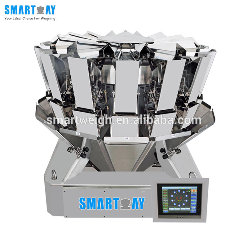 1.6L Hopper Modular Multi-function linear weigher packaging machine with 14 head linear weighing machine
