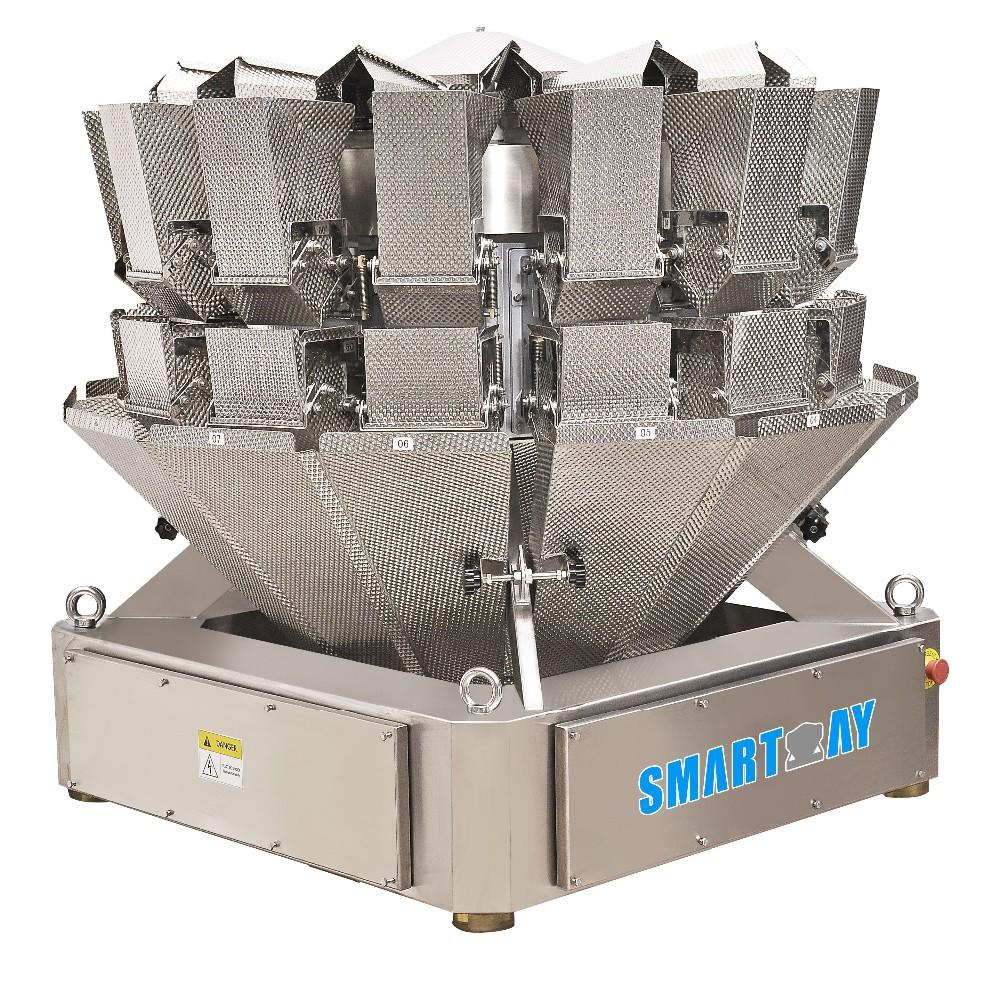 14 Head Modular Control Multihead Weigher For Biscuit Or Goody Pet Food Packing Machine