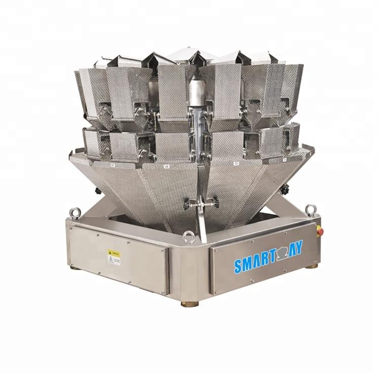 2.5L dimpled plate 14 head multi head weigher