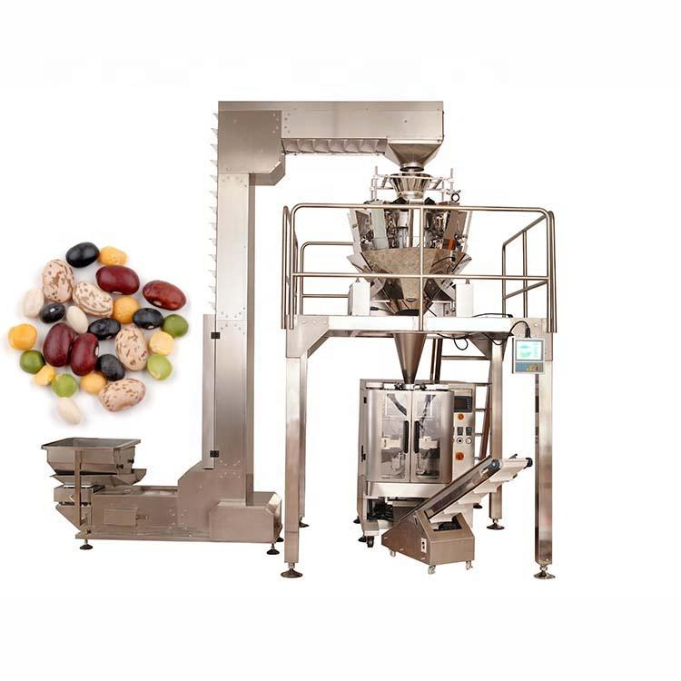 High performance durable 10 heads granule grain packaging machine