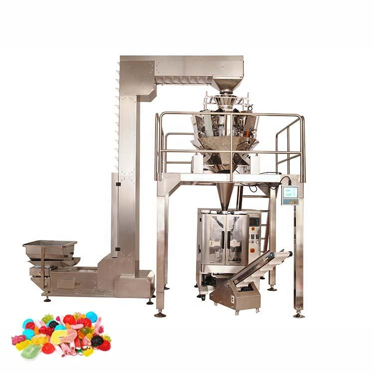 High performance durable 10 heads granule grain packaging machine