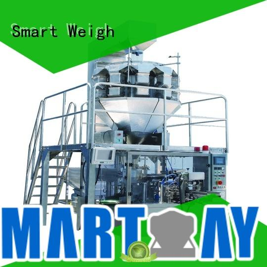 Smart Weigh 60hz snack food packaging machine factory price for foof handling
