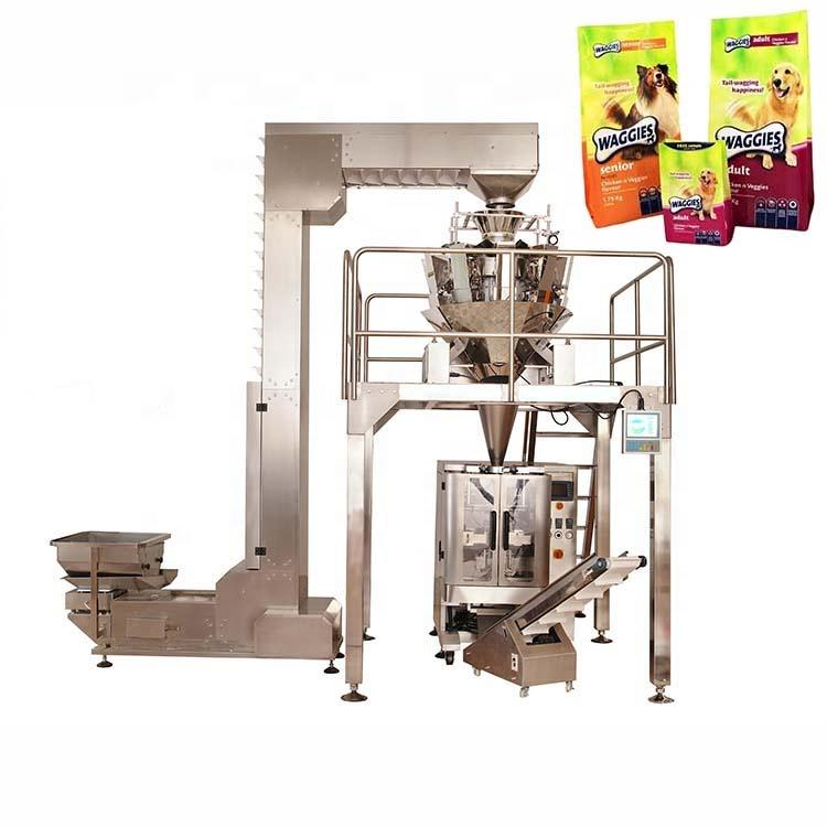High quality automatic vertical dog food packing machine with multihead