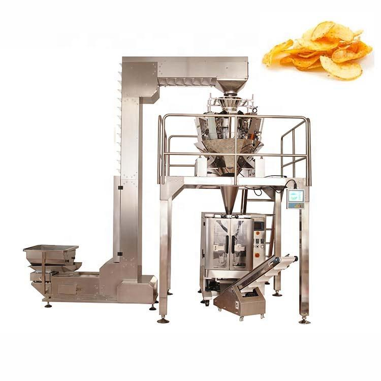Factory direct sales multihead salad weigher crisps packaging machine