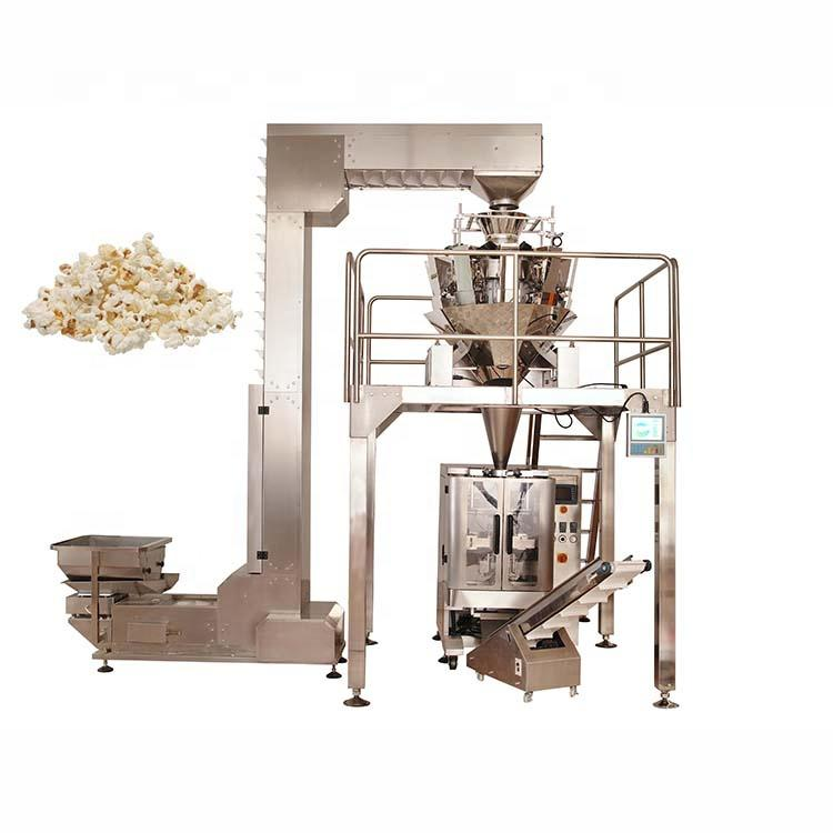 Pringles potato chips vertical packing machine with multihead weigher
