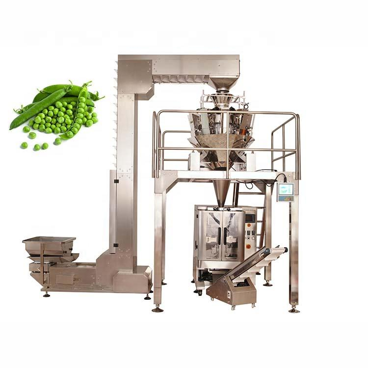 Factory sales automatic vertical peas packing machine with multihead