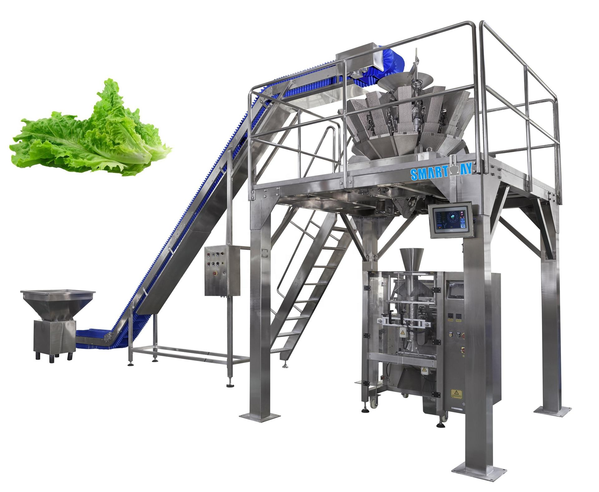 Automatic multihead vertical packing machine with multihead scale