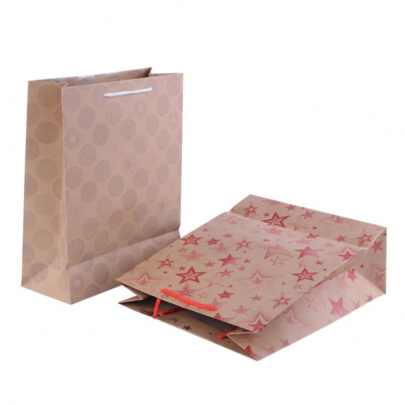 Different types paper bag rope handle delicate custom print paper bag