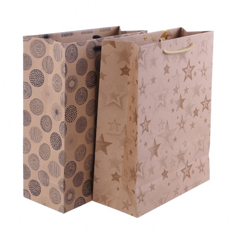Super quality workmanship paper packing bag wonderful tote kraft paper bag