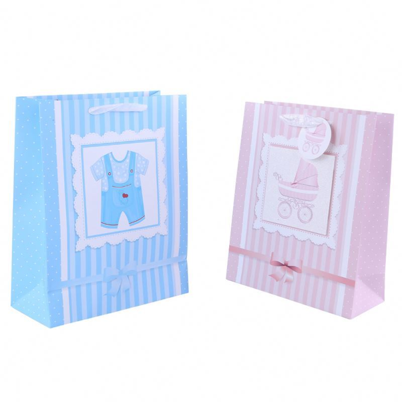 Hot sale exquisite decorative pattern recycled paper bag promotional paper pouch bag