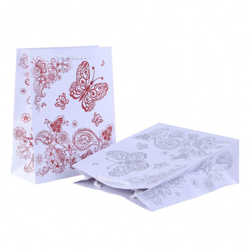Top selling exquisite decorative pattern large paper bag gift packing paper bag for packing