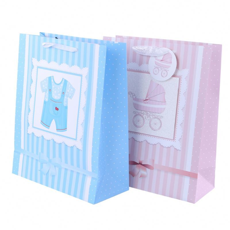 Top grade exquisite workmanship small paper bag printed cut out handle paper bag