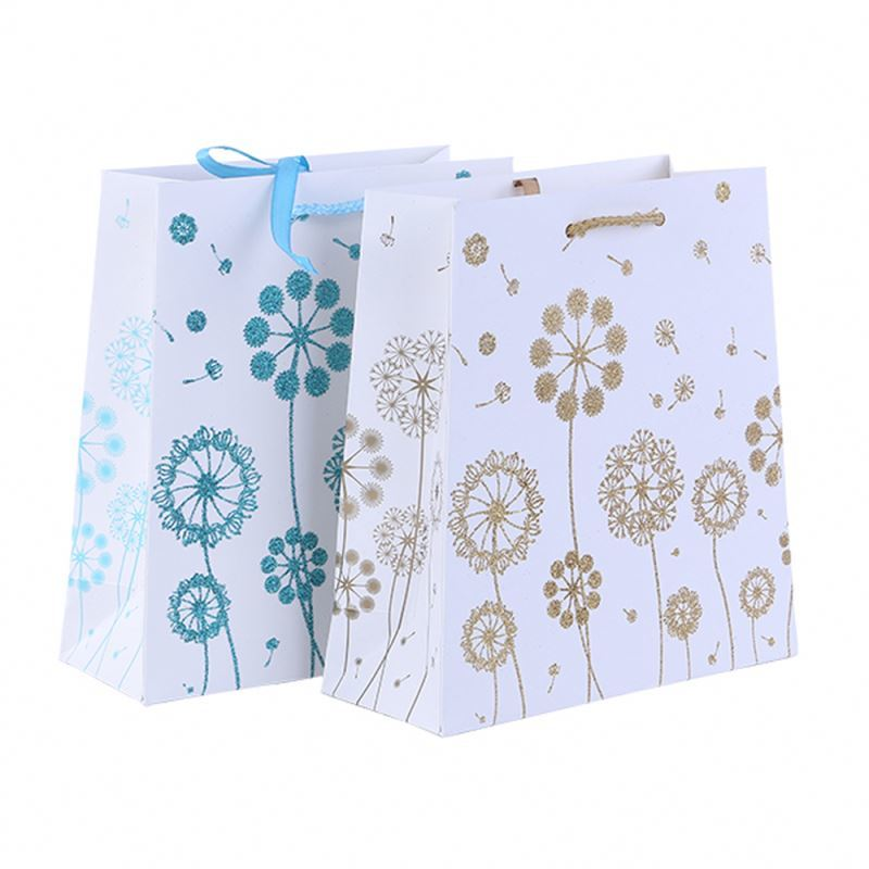 New products exquisite paper gift bag logo multicolor paper craft bag