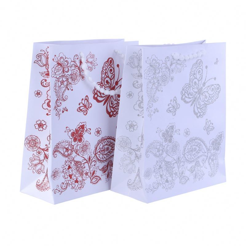 Newest selling promotional portable paper bag gift packaging thick paper bag