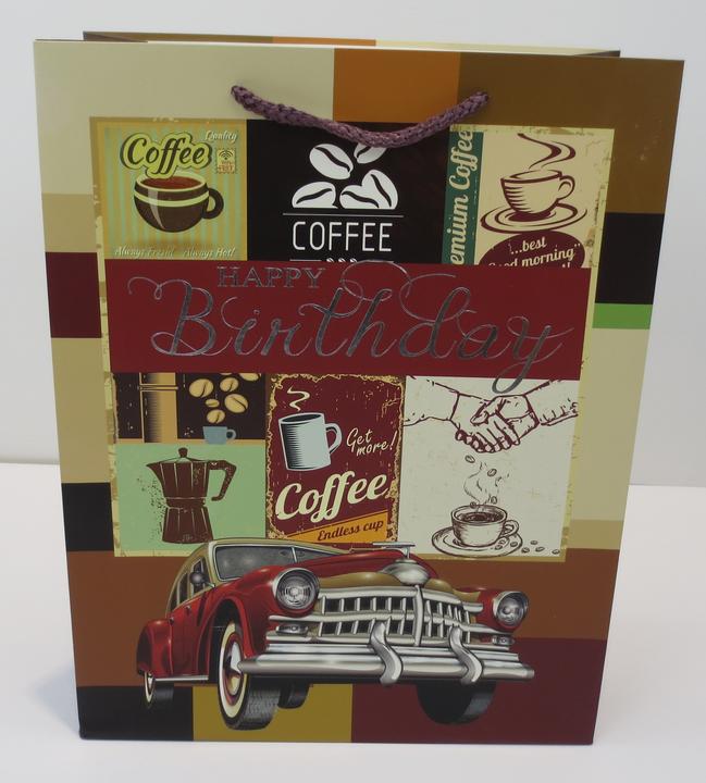 2019 BSCI certificate classic coffee design gift shopping paper bag