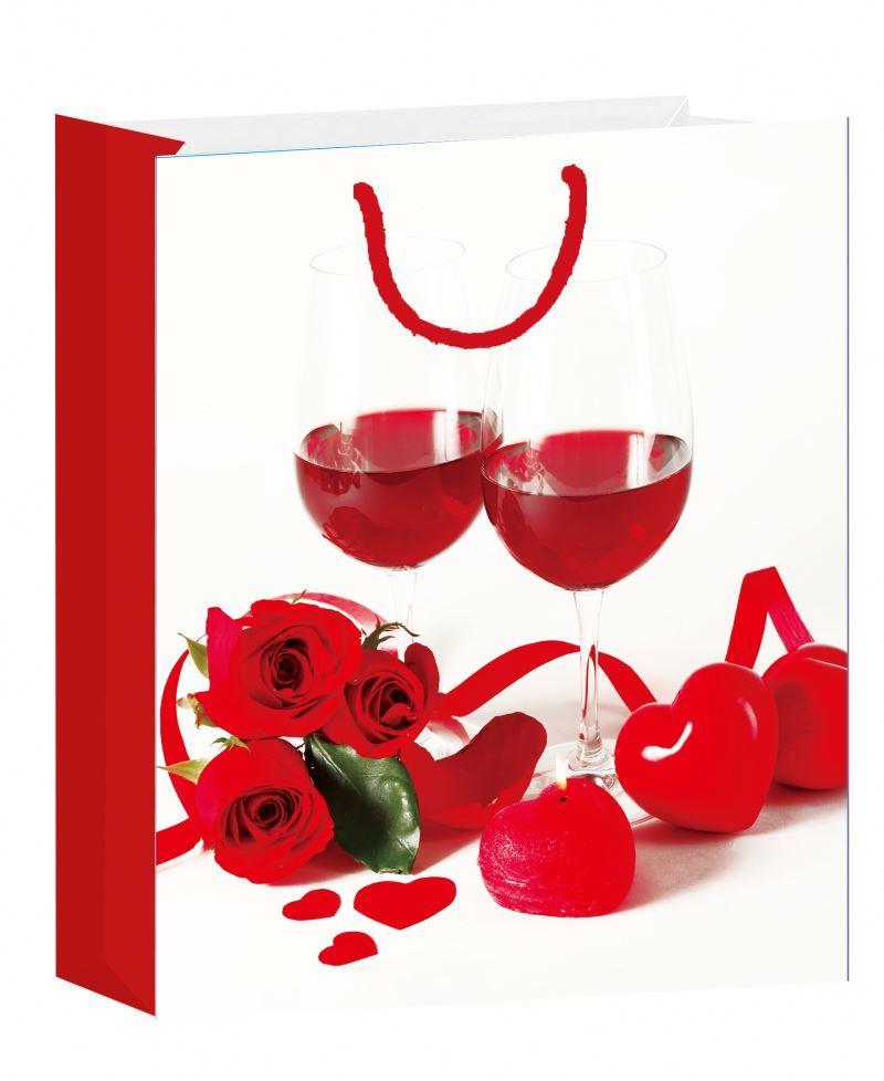 Favorable price large paper bag fashion floral printed wholesale paper bag