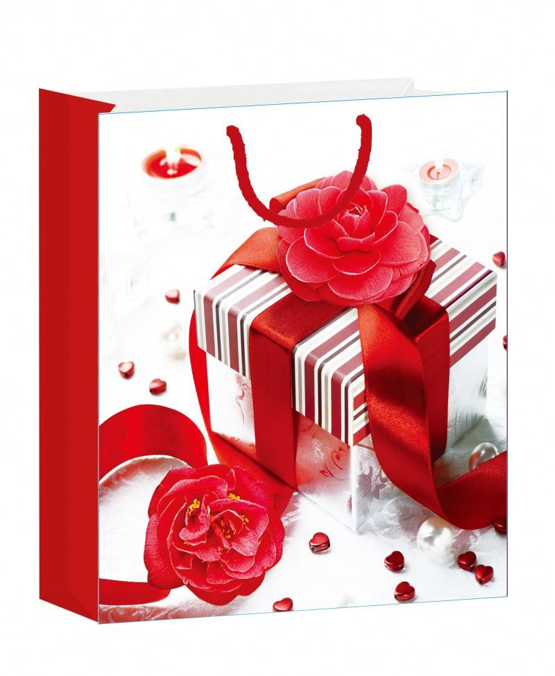 Excellent quality Valentine design paper bag wonderful fancy paper bag
