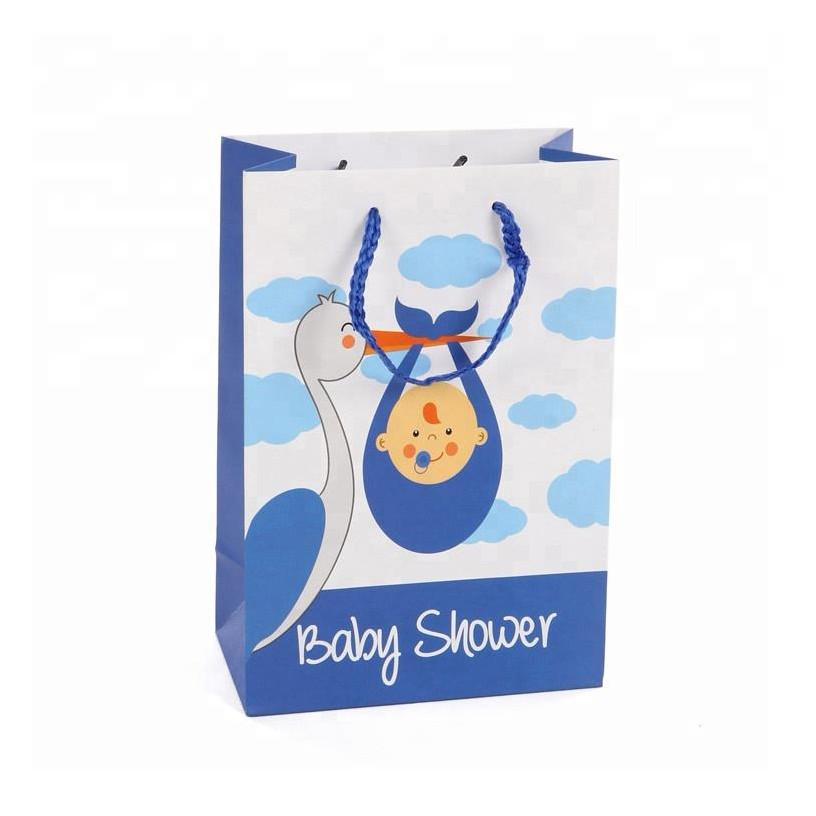 Custom Eco-Friendly Cartoon Print Kid'sGift Art Paper Bags With Handles