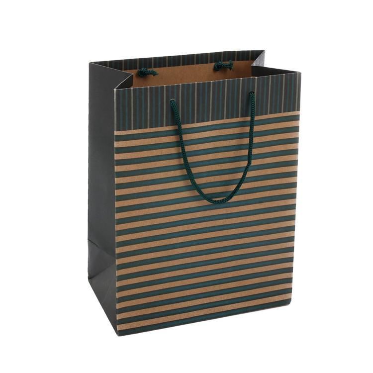 Simple design shopping kraft paper bag packaging