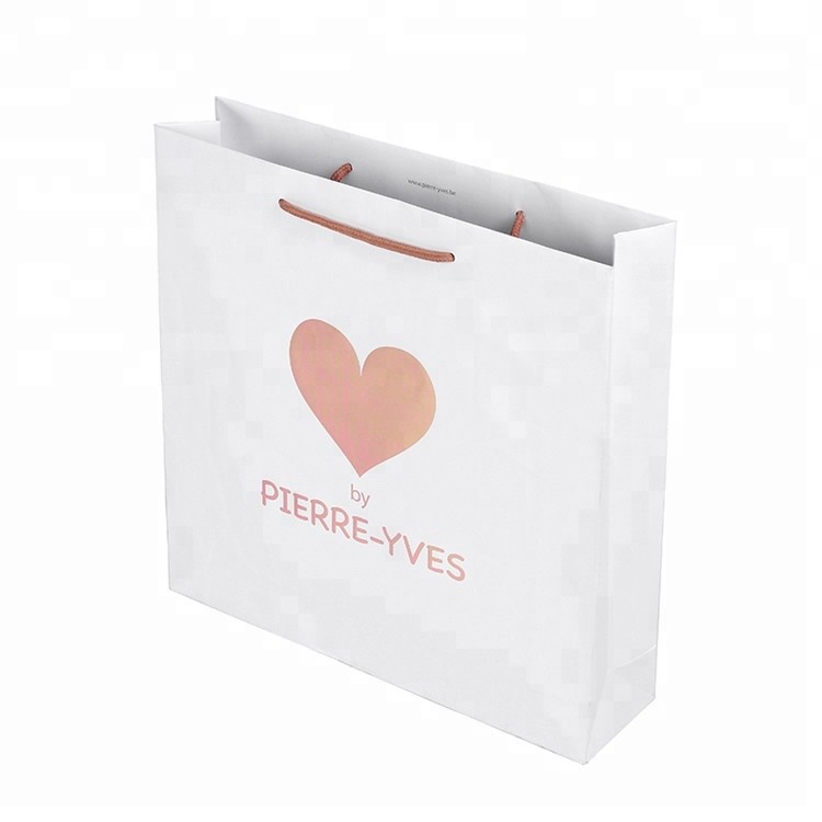 Wholesale Custom Logo Printing Luxury Double Handle Paper Shopping Bag