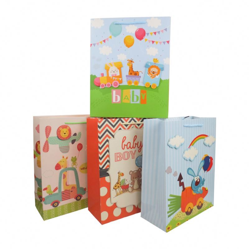 Wholesale Eco-friendly Foldable 3D Custom Personalized Design Paper Gift Bags With Handles