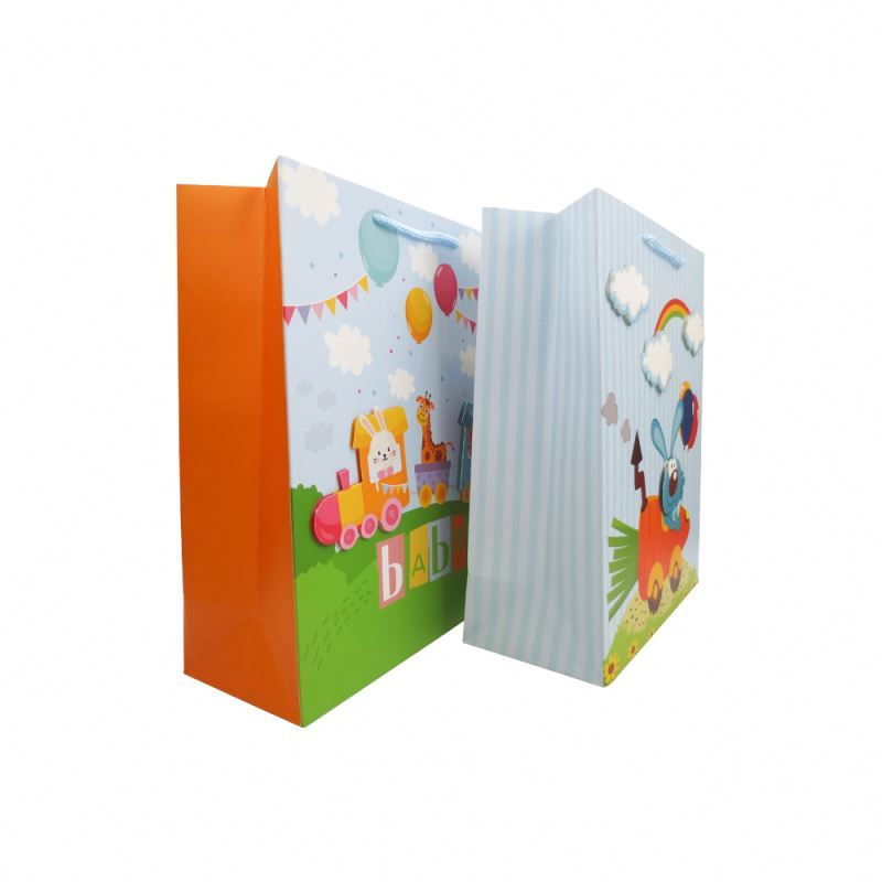 2019 Wholesale Custom 3D Paper Bag Recyclable Paper Gift Bag For Shopping
