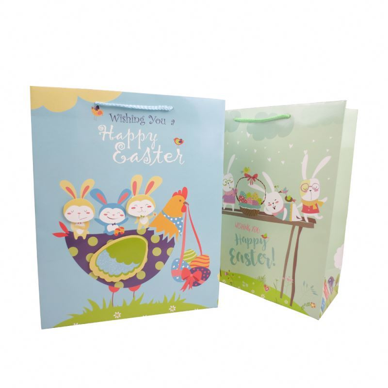 Hot selling cheap customized 3d paper personalised gift bag with rope handles