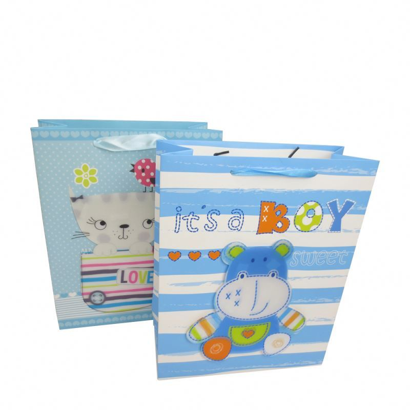 Professional Supplier Recyclable Paper Bag,3D Cartoon Craft Paper Bag
