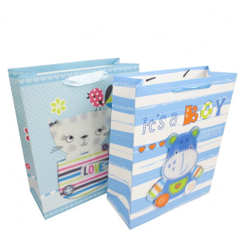 Wholesale paper shopping gift bag, custom eco-friendly 3d packaging paper bag
