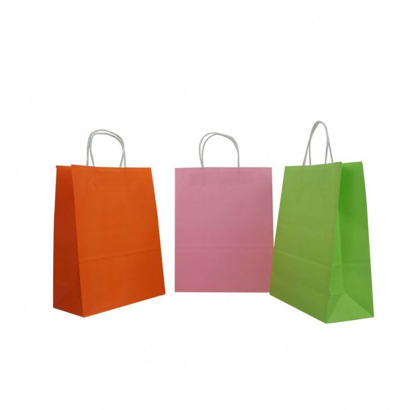 Most popular package bag kraft paper promotional plain kraft paper bag